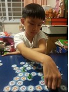 Child Using Game To Train His Mind